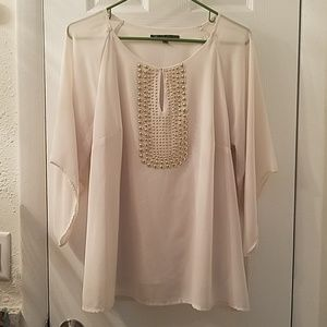 Ivory top with gold detail